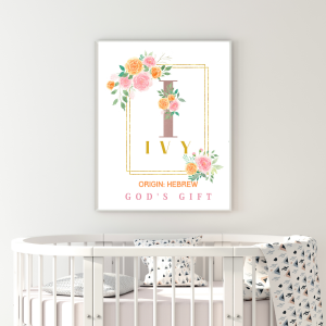Baby Name Meaning Wall Art